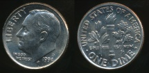World Coins - United States, 1994-D Dime, Roosevelt - Uncirculated