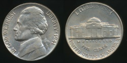 World Coins - United States, 1941 5 Cents, Jefferson Nickel - Uncirculated