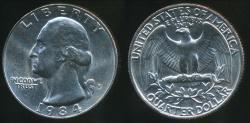 World Coins - United States, 1984-P Quarter, 1/4 Dollar, Washington - Uncirculated