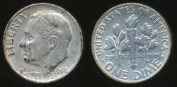 World Coins - United States, 1958-D Dime, Roosevelt (Silver) - Extra Fine