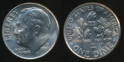 World Coins - United States, 1998-D Dime, Roosevelt - Uncirculated