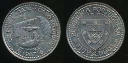 World Coins - Portugal, Republic, 1987 100 Escudos (Golden Age of Portuguese Discoveries - Gil Eanes) - Choice Uncirculated