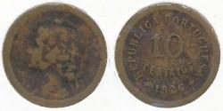 World Coins - PORTUGAL - 1926, 10 Centavos, KM# 573