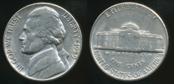 World Coins - United States, 1959-D 5 Cents, Jefferson Nickel - Uncirculated
