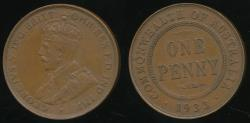 World Coins - Australia, 1933 One Penny, 1d, George V - Extra Fine