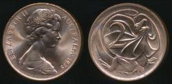 World Coins - Australia, 1975 Two Cents, 2c, Elizabeth II - Uncirculated