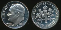 World Coins - United States, 1983-S Dime, Roosevelt - Proof