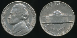 World Coins - United States, 1960-D 5 Cents, Jefferson Nickel - Uncirculated