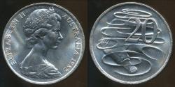 World Coins - Australia, 1982 20 Cents, Elizabeth II - Uncirculated
