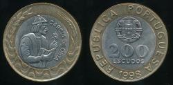 World Coins - Portugal, Republic, 1998 200 Escudos - Uncirculated