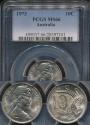 World Coins - Australia, 1973 Ten Cents, 10c, Elizabeth II - PCGS MS66