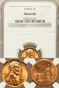World Coins - United States, 1956-D One Cent, Lincoln Wheat - NGC MS66RD