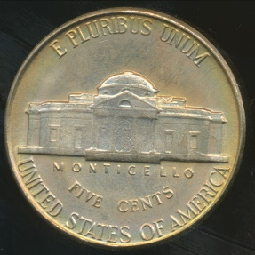 World Coins - United States, 1949 5 Cents, Jefferson Nickel - Uncirculated