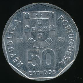 World Coins - Portugal, Republic, 1989 50 Escudos - Uncirculated