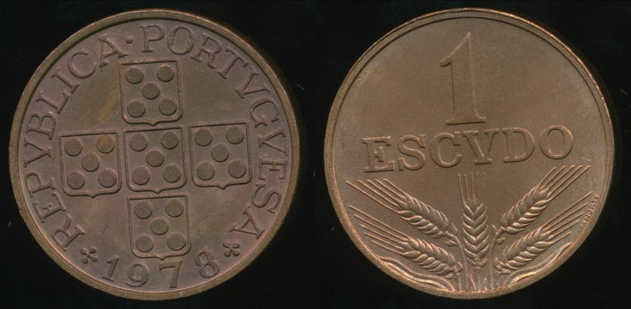 World Coins - Portugal, Republic, 1978 1 Escudo - Uncirculated