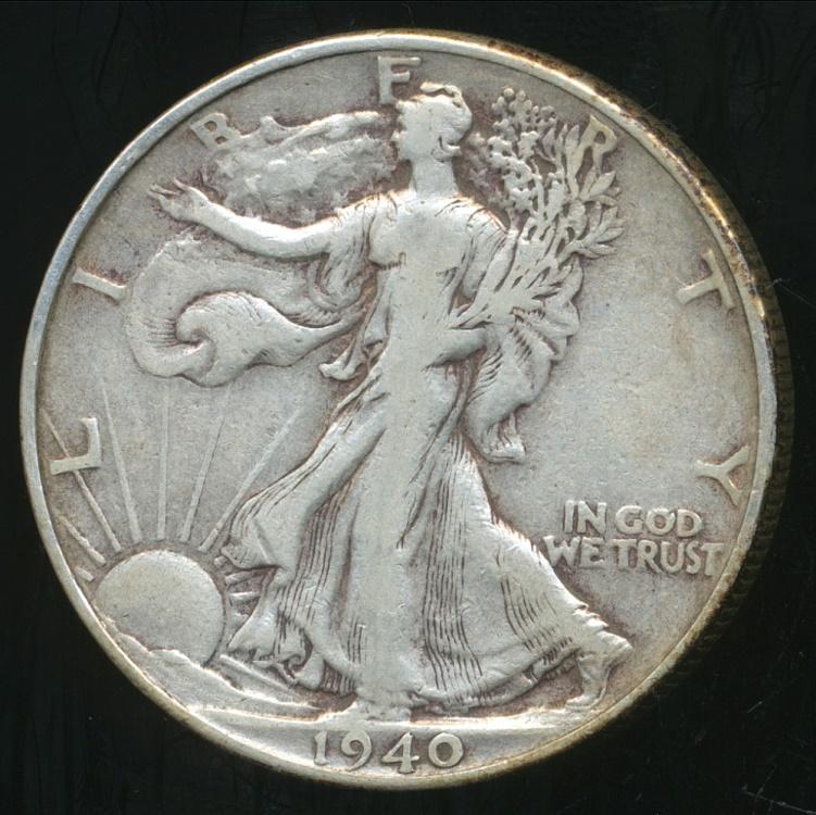 United States 1940 Half Dollar Walking Liberty Silver