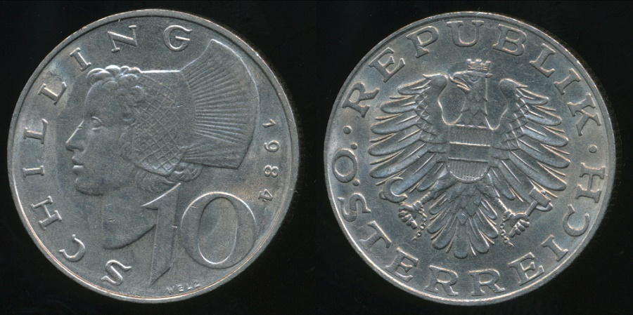 World Coins - Austria, Republic, 1984 10 Schilling - almost Uncirculated