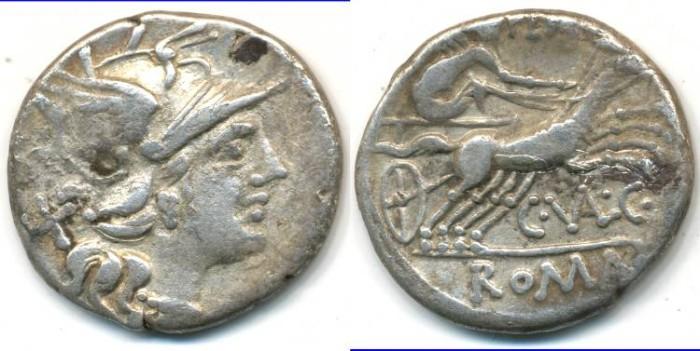 Ancient Coins - ROMAN REPUBLIC - C. Valerius Flaccus, AR Denarius, (c.140 B.C.), Rome mint, (18mm, 3.69 g) - Cr.228/2