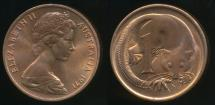 World Coins - Australia, 1971 One Cent, 1c, Elizabeth II - Uncirculated