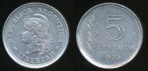 World Coins - Argentina, Republic, 1973 5 Centavos - Uncirculated