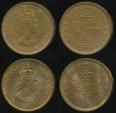 Hong Kong, Group of 2 Coins (1960, 1968) Ten Cents, 10c, Elizabeth II - Toned