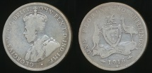 World Coins - Australia, 1916(m) Florin, 2/-, George V (Silver) - Good/Poor
