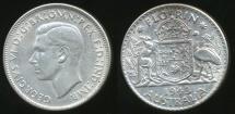 World Coins - Australia, 1943(s) Florin, 2/-, George VI (Silver) - Extra Fine