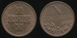 World Coins - Portugal, Republic, 1962 10 Centavos - Uncirculated