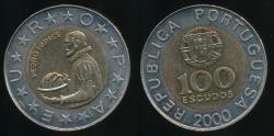 World Coins - Portugal, Republic, 2000 100 Escudos - Uncirculated