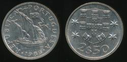 World Coins - Portugal, Republic, 1985 2-1/2 Escudos - Uncirculated