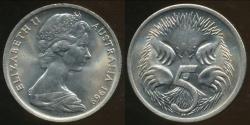 World Coins - Australia, 1969 Canberra 5 Cent, Elizabeth II - Choice Uncirculated
