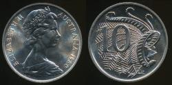 World Coins - Australia, 1980 Ten Cents, 10c, Elizabeth II - Uncirculated