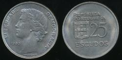World Coins - Portugal, Republic, 1980 25 Escudos - Uncirculated