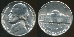 World Coins - United States, 1958 5 Cents, Jefferson Nickel - Uncirculated
