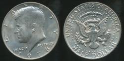 World Coins - United States, 1978 Half Dollar, Kennedy - Uncirculated