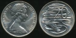 World Coins - Australia, 1978 Canberra 20 Cent, Elizabeth II - Choice Uncirculated