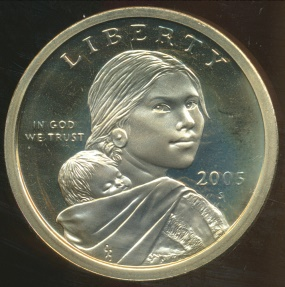 World Coins - United States, 2005-S One Dollar, Sacagawea - Proof
