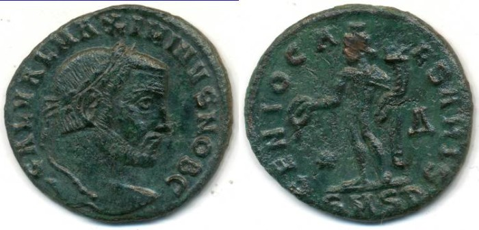 Ancient Coins - MAXIMINUS II. AE-Follis, AD 309-313, Serdica mint, (25mm, 6.04g)- RIC VI, 37 (Scarce)