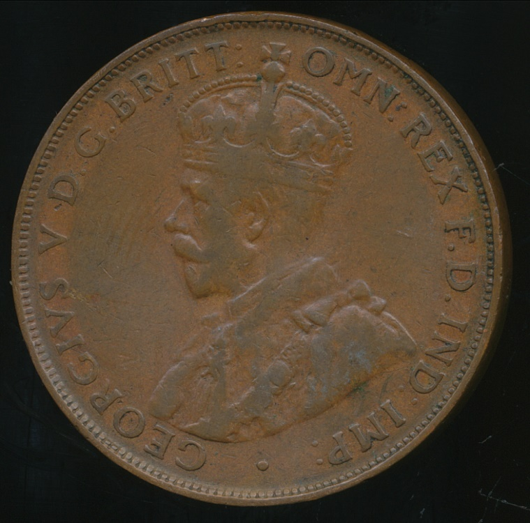 1927 one penny coin