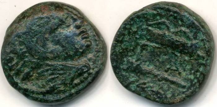 Ancient Coins - Kings of Macedon, Alexander the Great, AE18, 336-323 BC, (18mm, 6.05 g) - Price 376