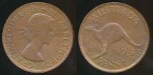 World Coins - Australia, 1963(p) One Penny, 1d, Elizabeth II - Uncirculated