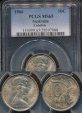 World Coins - Australia, 1966(L) Ten Cents, 10c, Elizabeth II - PCGS MS65