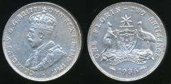 World Coins - Australia, 1936 Florin, 2/-, George V (Silver) - Extra Fine