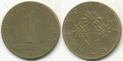 World Coins - AUSTRIA - 1963, 1 Schilling - KM# 2886