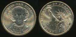 World Coins - United States, 2008-P Martin Van Buren Presidential Dollar, $1 - Uncirculated