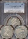 World Coins - New Zealand, 1971 Twenty Cents, 20c, Elizabeth II - PCGS PR65CAM