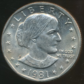 World Coins - United States, 1981-S One Dollar, Susan B. Anthony - Uncirculated