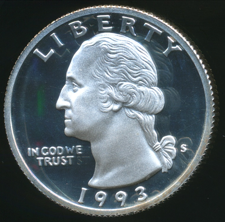 United States 1993 S Quarter Dollar Washington Silver