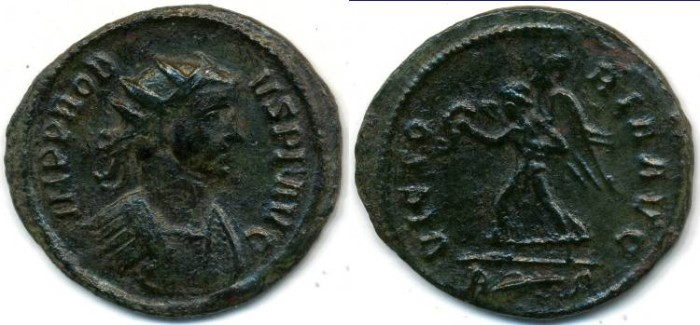 Ancient Coins - PROBUS, AE Antoninianus, AD 276-282, Rome mint, (23mm, 3.18 g) - RIC VII 215