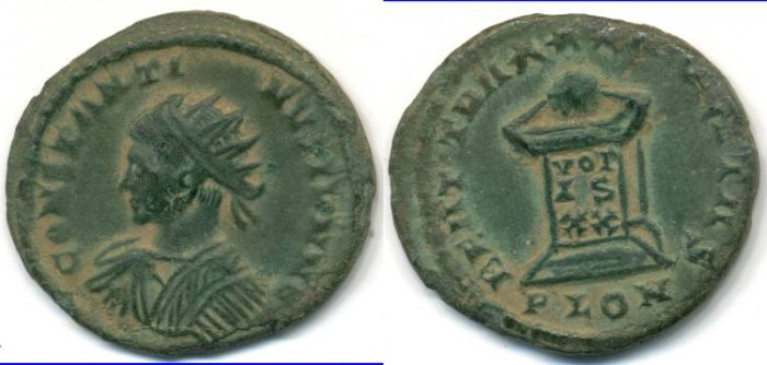 Ancient Coins - CONSTANTINE II, AE-3, AD 317-340, London mint, (19mm, 2.83 g), Struck AD 321-324 - RIC VII 284